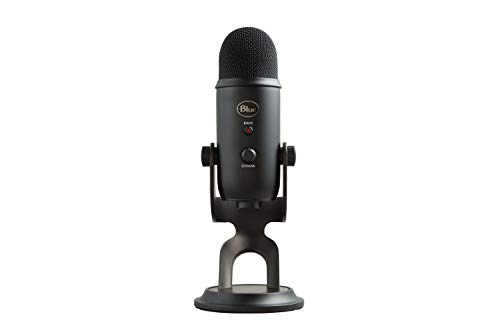 Blue Yeti USB Mic for Recording & Streaming on PC and Mac, 3 Condenser Capsules, 4 Pickup Patterns,...