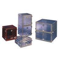 Plas-Labs 860-CG Acrylic Desiccator Cabinet, 1 Chamber, 2 Shelves, 12