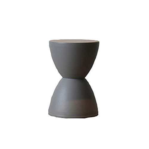 El taburete de reloj de arena, taburete redondo con forma de reloj de arena NORDIC, se puede utilizar como banco de sofá, banco de zapatos, banco de ajedrez, taburete de mesa de café,