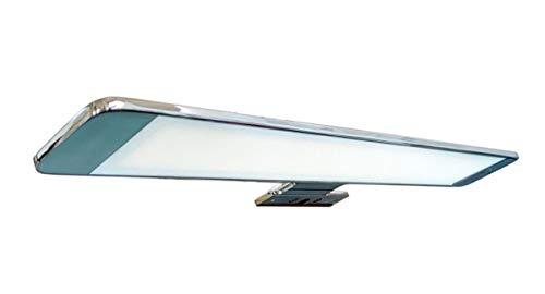 Lámpara de espejo LED para baño PegAsus – 60 cm, 15 W, 800 lm, 220 V, 6000 K, aluminio cromado, IP44 Clase II, no regulable, instalación de espejo o marco, aplique, luz fría
