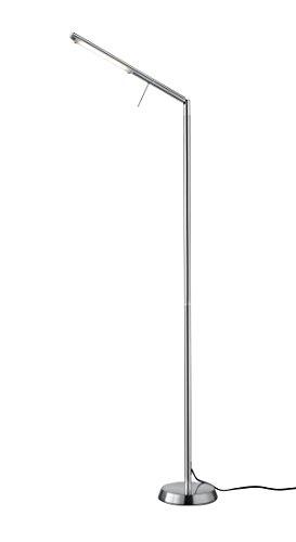 Trio Leuchten LED Stehleuchte Filigran 420490107, Metall Nickel matt, 1x 6 Watt, Tastdimmer