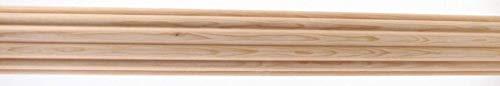 """Venetian Rod Company Wood Drapery Pole 1-3/8"""" Fluted Wood 8' Pole White"""