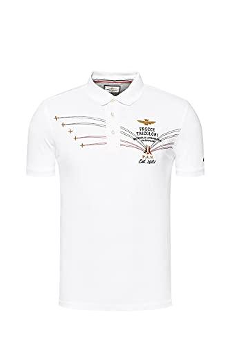 Aeronautica Militare Polo PO1531P Flechas Tricolor Piqué Hombre Camisa, Camisa, Camiseta Off...