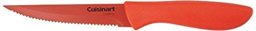 Cuisinart C55-6PCSR Advantage Color Collection 6-Piece Ceramic Coated Steak Knife Set, Red