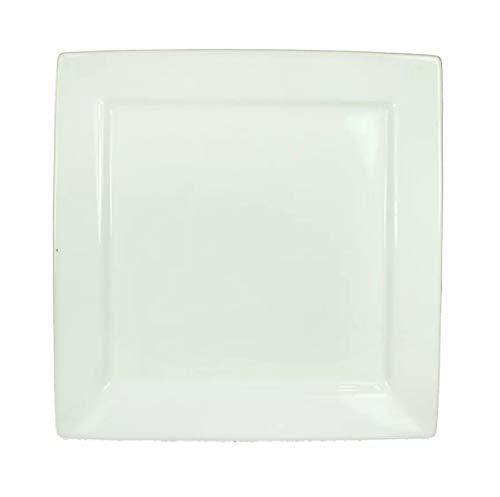 Visiodirect Lot de 6 Assiettes carrées Plume - 20 x 20 cm