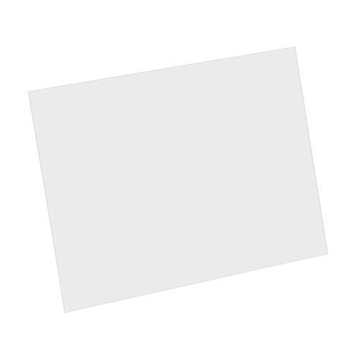 IKN 20X17cm Golpeador acústico en blanco Hoja de material Hoja de respaldo autoadhesiva Placa de rayado para guitarra acústica Tamaño de protector de corte, Transparente