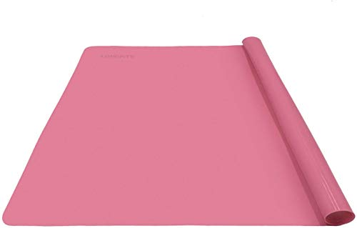 LONGFITE Silicone Baking Mat, Multipurpose Nonstick Pastry Mat, Heat Resistant Nonskid Table Mat Countertop Protector 16 x 20 Inch (Pink)