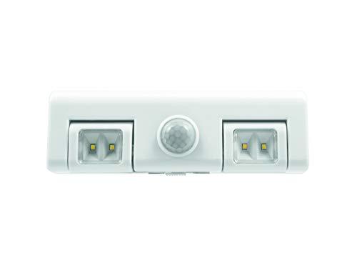 SYLVANIA 53637 Interieur escalier lumière Mouvement-Lampe Fil a Réglette LED Cuisine + détecteur 3 Piles, Blanc