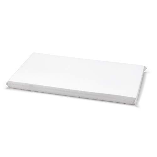 Cambrass Liso E - Colchoneta para minicuna, 80 x 47 x 5 cm, color blanco