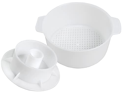 Cheesemaking Kit Butter Punched Сheese Mold Press Strainer cheese With Follower Piston 1,2 liters Tofu Press Mold Cheese Making Kit Machine