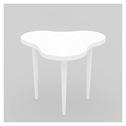 DAGCOT Mesa de exhibición Grande, Pantalla Plana de Pantalla Duradera Moderna Blanca, estantería de visualización de Almacenamiento para Tienda de Ropa o hogar, 31.5 x 29 Pulgadas (Size : Small)