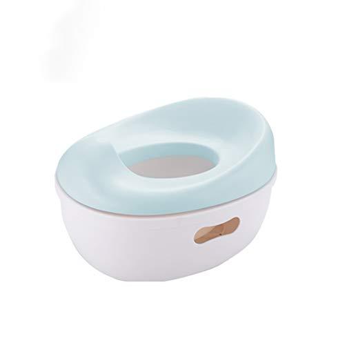 ADM6 My Real Potty, Ausgesuchte Materialien Tragbare Anti-Splash Urin Ergonomischer Multifunktions Separate Kinder WC Hilfstrainingsgerät,Blau