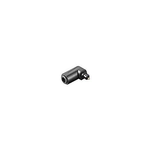 Optischer Audioadapter/LWL Lichtwellenleiteradapter - Toslink Buchse an Stecker gewinkelt - SCHWARZ