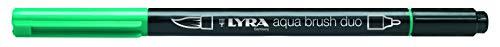 LYRA Aqua Brush Duo Rotulador acuarelable, Doble Punta, Verde Noche, Nachtgrün