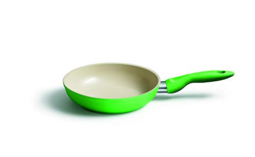 KELOmat Colour Cera Frying Pan, Cooking Pan, with Ceramic Coating, Round, Ø 20 cm, Green