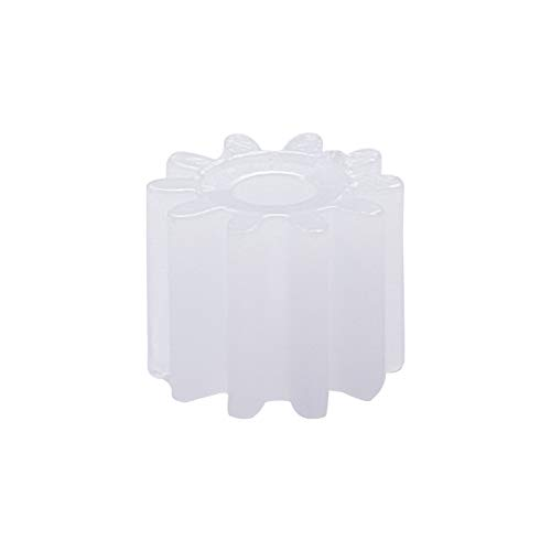 Othmro 102A Plastic Gear 10 Teeth 0.5 Modulus Model White Craft Gears for Science Homework Assembled...