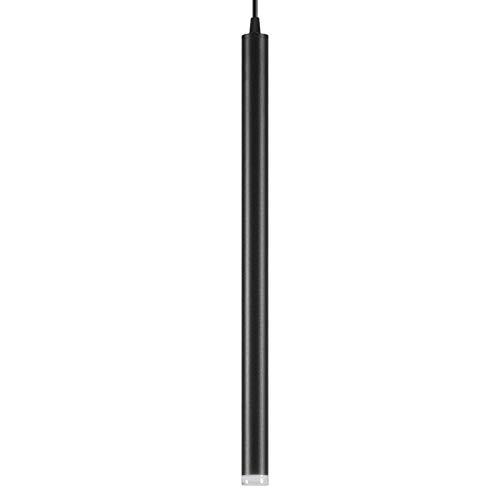 LULIJP Lámpara Colgante Led lámpara Colgante Largo Tubo de luz Isla de Cocina Comedor Tienda Barra decoración Colgante de la lámpara de la Cocina (Body Color : Negro, Size : Warm)