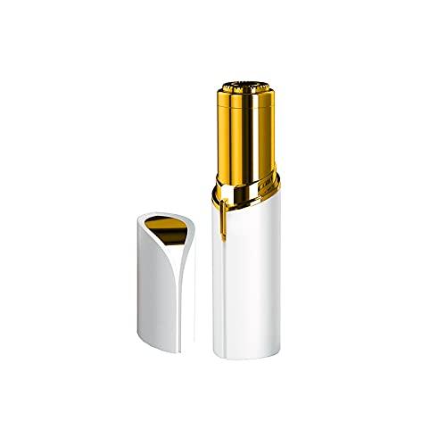EUROXANTY Depilador Vello facial eléctrico   Cabezal desmontable   Diseño ergonómico   Con Luz   Para todo tipo de bellos corporales   De viaje   Blanco Vello facial