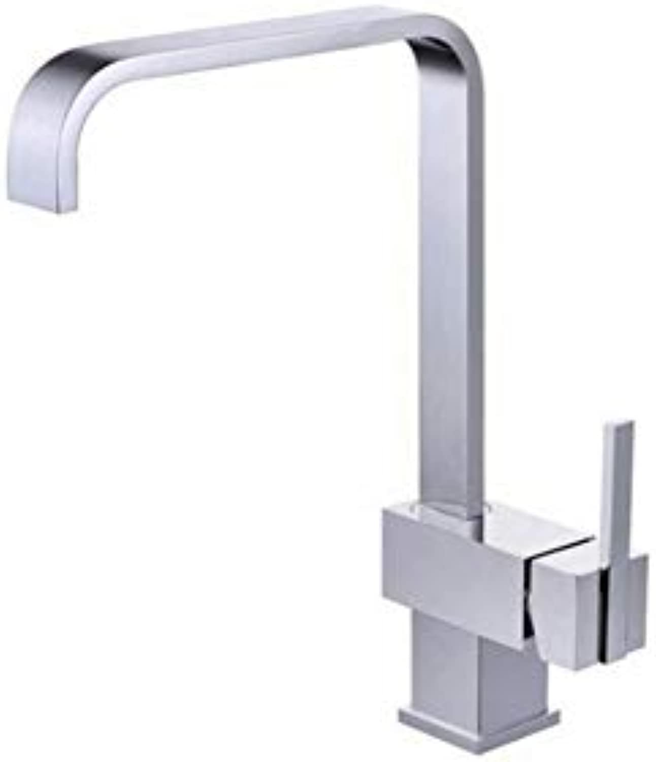 Taps Kitchen Sinkkitchen Sink Faucet Deck Mounted Chrome Polished Basin Faucet Hot&Cold