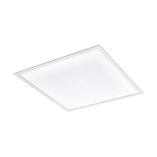EGLO connect LED Deckenleuchte Salobrena-C Panel, Smart Home Deckenlampe, Material: Aluminium, Kunststoff, Farbe: Weiß, 59,5x59,5 cm, dimmbar, Weißtöne und Farben einstellbar
