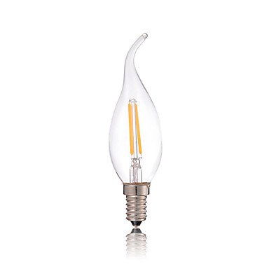 HZZymj-C35L 2W e14 180lm führte Glühlampe Glas Kerzen für Kronleuchter Beleuchtung (AC220-240V)