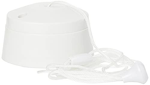 MK K3191RPWHI 6A 1 Way SP Ceiling Switch Acorn 1.5M, White