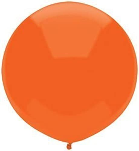 Single Source Party Supplies - 17 Bright Orange Outdoor Latex Balloons - Case of 720 by Single Source Party Supplies