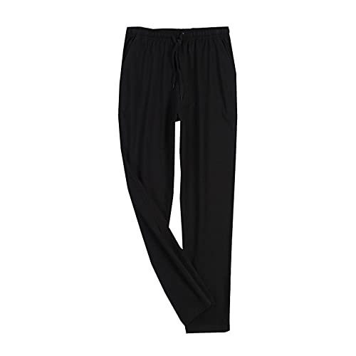 WAEKQIANG Pijamas De AlgodóN para Hombres, Pantalones De Casa para Hombres, Pantalones De Casa, Pijamas Deportivos Sueltos De Primavera Y OtoñO, Se Pueden Usar Fuera De Los Pantalones De La Casa.