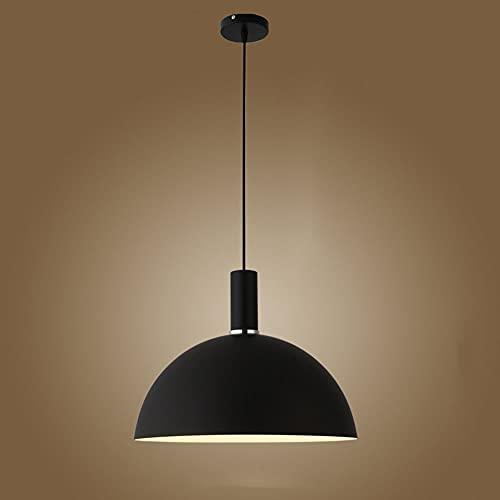 JHYPVII Lámpara De Suspensión Macaron Modernas Comedor Luces Colgante Cónico Sencillo Mesa De Comedor Lámpara Colgante E27 Casquillo Creatividad Iluminación De Colgando,Negro,Ø35CM