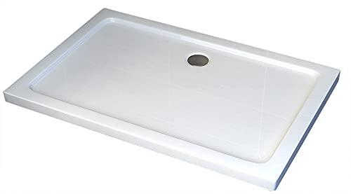Duschtasse Duschwanne rechteckig - 100x80cm - inkl. Ablaufgarnitur