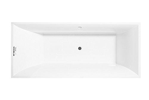 Villeroy und Boch Badewanne Quaryl Rechteck Squaro Duo Slim Line, UBQ180SQS2V-, 1794x794mm, inkl. Wannenfüße, Farbe: weiß-Alpin - UBQ180SQS2V-01