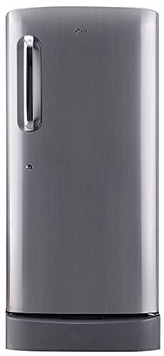 LG 190 L 5 Star Inverter Direct-Cool Single Door Refrigerator (GL-D201APZZ, Shiny Steel, Base stand...