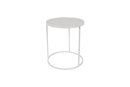 Zuiver Beistelltisch Glazed weiß | ein Beistelltisch rund