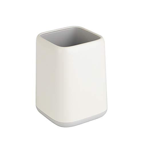 YOSCO ペン立て ペンスタンド 鉛筆立て 事務用品 オフィス収納 ペンホルダースタンド 卓上収納 無地 シンプル ホワイトカラー