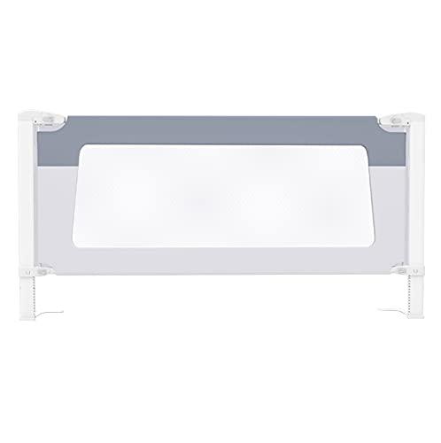 barrera cama Shuai Seguridad para Cama con Protección contra Caídas para Niños Pequeños con Doble Cerradura Barandilla De Cama Ajustable En Altura De 28 Escalones(Size: Length 180cm,Color:Azul)