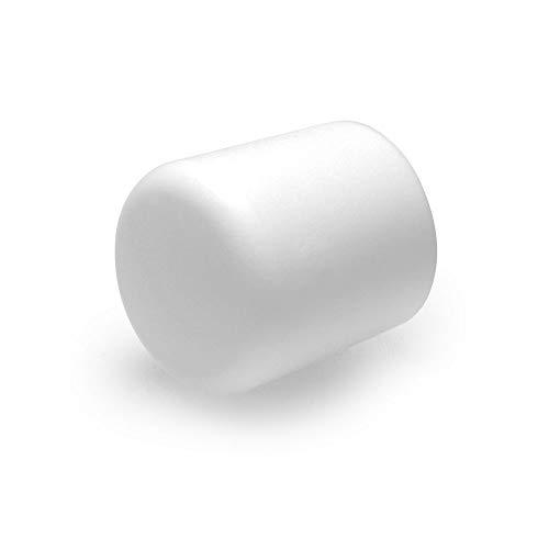 4 Stück Home Xpert Stuhlbeinkappe, Stuhlbeinschutz, Stuhlkappen, rund, Kunststoff in weiß Ø 25 mm