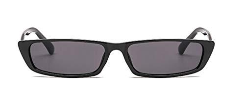 AmDxD Damen Polarisierte Sonnenbrille   Linse aus PC   Rechteck Vollrand Mode Brille UV400 Schutz   Für Autofahren, Wandern, Sport - Schwarz Grau