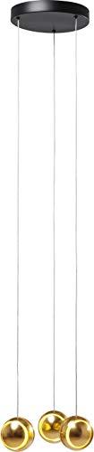 Kare Design - Lampadario Spool Spiral LED, Oro, Rotondo