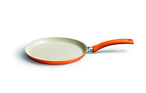 Kelomat, 3530-355, Crêpespfanne CERAMIC COLOR, Pfannkuchenpfanne, Durchmesser 25 cm, orange