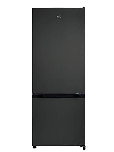 CHiQ réfrigérateur congélateur bas FBM205L4 205L (153+52), low frost, acier inoxydable, portes réversibles, A+, 38 db, 12 ans de garantie sur le compresseur