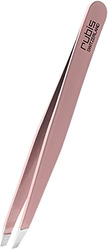 Pince a epiler professionnelle Rubis Switzerland - rose - Pince à épiler pour sourcils et poils incarnés - Pincette elite
