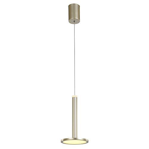 Italux Oliver - Lámpara colgante LED moderna Dorada, Blanco cálido 3000K 415lm Regulable
