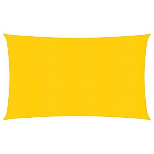 Tidyard Toldo de Vela Toldo Vela de Sombra Toldo Vela para Patio,Exteriores,Jardín Protección Rayos UV Amarillo HDPE Transpirable 160 g/m² 2x5 m