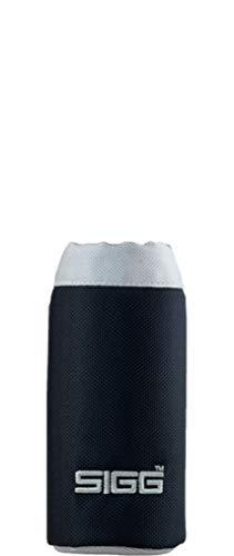 SIGG Nylon Pouch Black (0.4 L), housse de protection moderne pour toutes les gourdes SIGG, sac en nylon noir, sobre et pratique à emporter