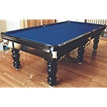 Playing city Pool Table 8ft x 4ft, Green American Billiard Style with Accessories (Indian Marble Pool Table)
