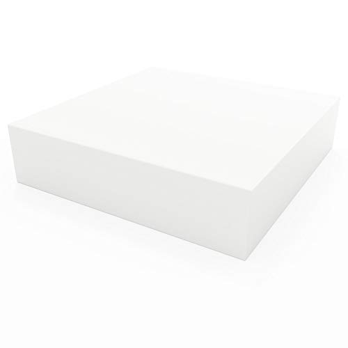 "Linenspa High Density Squares- Replacement Cushion for Sofa or Chairs -Multiple Sizes Upholstery Foam, 16 X 16, 4"" Depth"