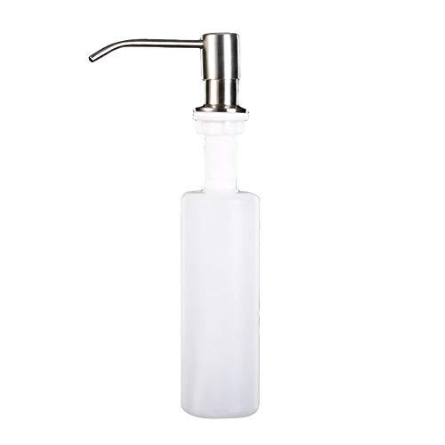 300 ml fregadero de cocina dispensador de jabón líquido acero inoxidable botellas de plástico fregadero desinfectante bomba organizador suministros para el hogar A