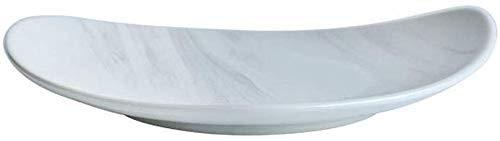 YAeele Ciotola Snack Dip Ciotole stoviglie Cobblestone a Forma di ceramiche da tavola Multi-Stile e Multi-Formato Occidentale zuppiera Piatto di Insalata di Bistecca Piatto (Size: 27.5 * 4)