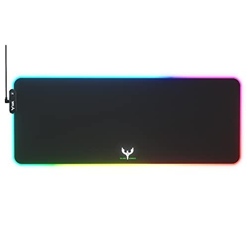 BLADE HAWKS Tapis de Souris Gaming, RGB Tapis de Souris Gamer avec 10 Mode d'éclairage, Surface Antiderapant, Haute Précision, Grand Tapis de Souris LED Pour PC Bureau Gamer (800x300x4mm)