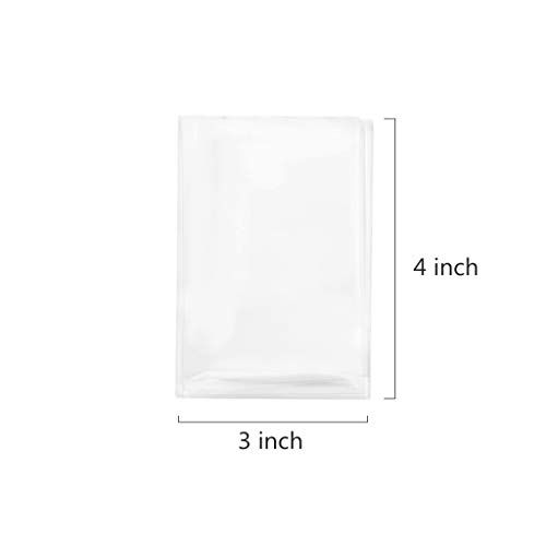"""200 Treat Bags 3x4 with 200 Twist Ties 4"""" 6 Mix Colors - 1.4 mils Thickness OPP Plastic Bags for Lollipop Candy Cake Pop Chocolate Cookie Wrapping Buffet"""